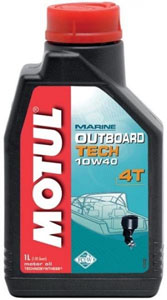 MOTUL Outboard TECH 4T 10w40 Semi Syntetic - 1 литр