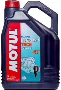 MOTUL Outboard TECH 4T 10w40 Semi-Syntetic - 5 литров