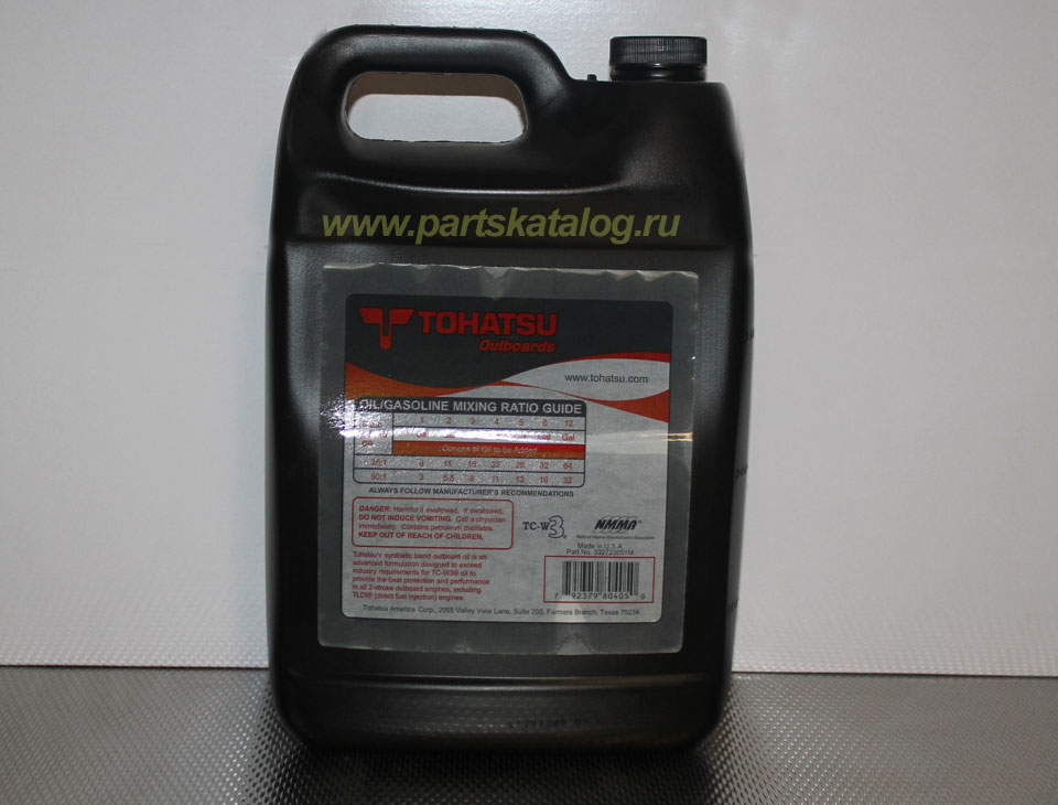 масло tohatsu two-stroke outboard oil, 4 литра