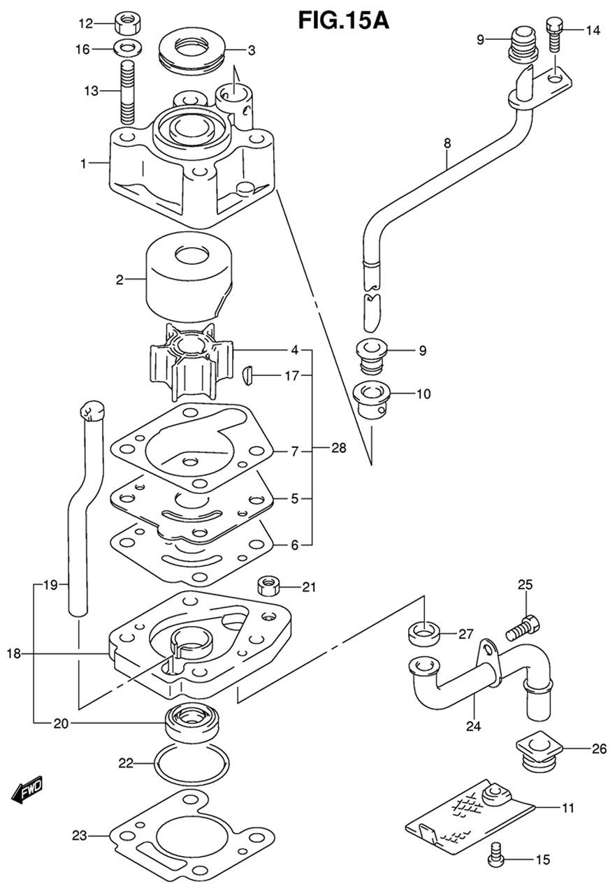 suzuki df 15 s k9 water pump. Black Bedroom Furniture Sets. Home Design Ideas