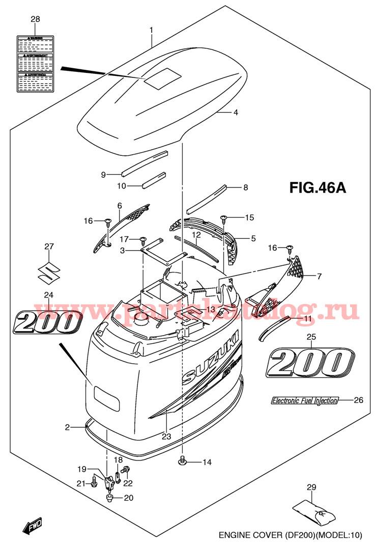 Suzuki df 200 запчасти