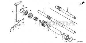 F-09 Вал колеса+ Drive Shaft (F-09 Wheel Shaft + Drive Shaft)
